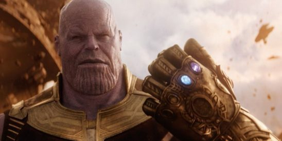 Thanos with the gauntlet.