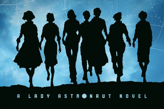 Cover art of multiple women in silhouette from The Calculating Stars.