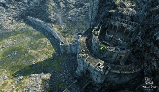 Helm's Deep fortress.