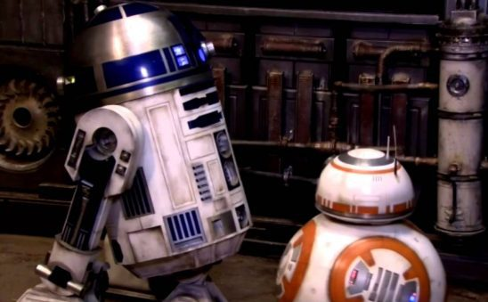 The BB-8 and R2-D2 droids