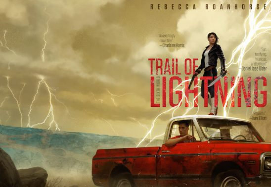 Cover art from the novel Trail of Lightning