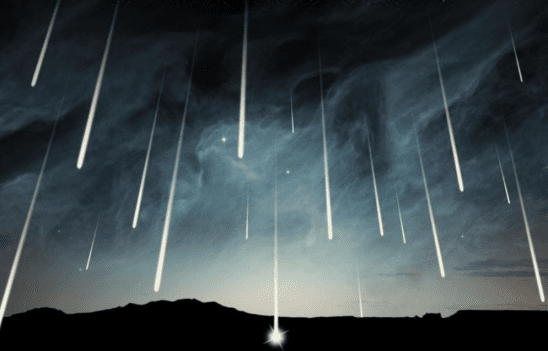 Shooting stars from the cover of Starless.
