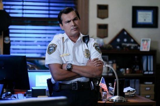 Chief McGinnis looking peeved.