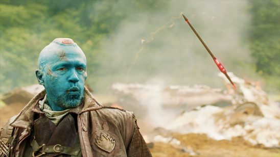 Yondu whistling to control his arrow in Guardians of the Galaxy.