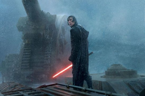 Kylo Ren in the rain from Rise of Skywalker.