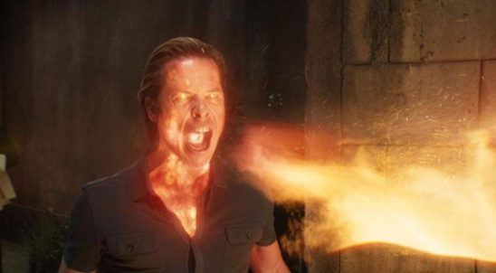 Killian breathing fire from Iron Man 3.