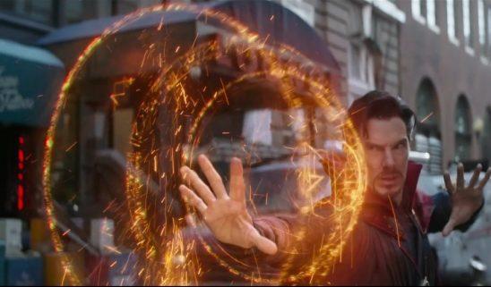 Doctor Strange using magic in Infinity War.