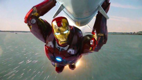 Tony guiding the nuke from Avengers.