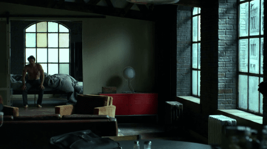 Daredevil wakes up in his large and classy apartment