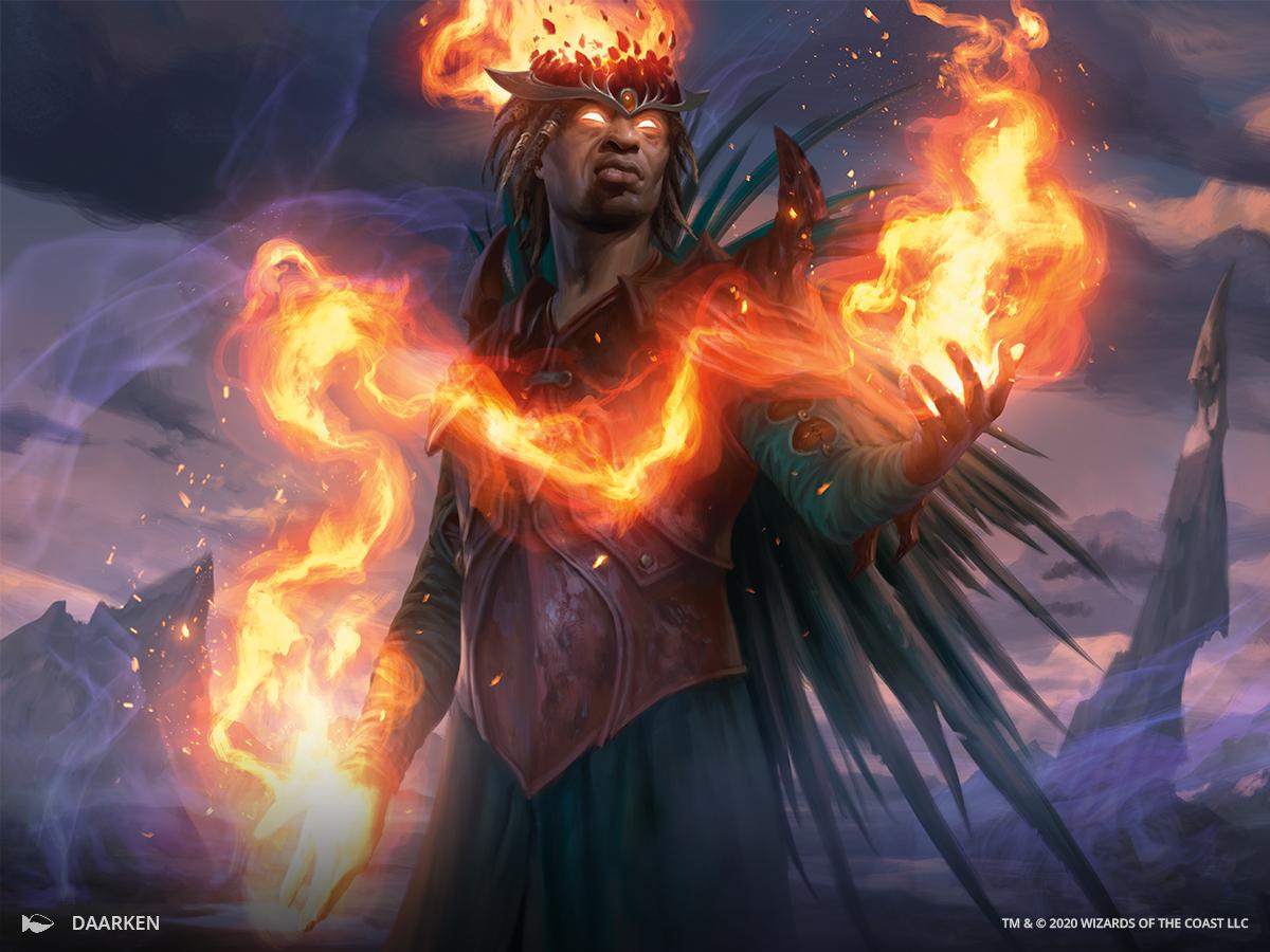 a warlock summons a wreath of flames
