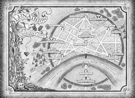 A map of Crescent City