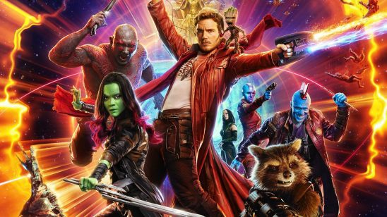 The characters from Guardians 2