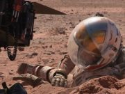 Mark Watney from The Martian digging himself out of some Martian soil