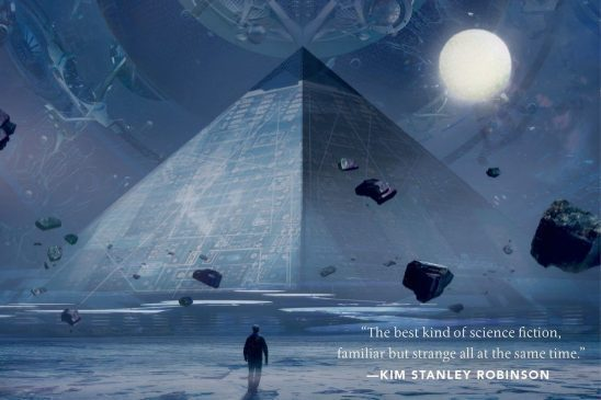An alien pyramid from the cover of Three Body Problem