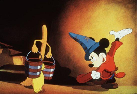 Mickey animating a broom from Fantasia.