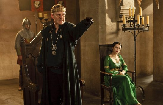 Uther pointing angrily from BBC Merlin
