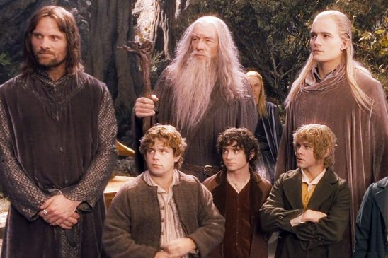 The Fellowship characters from Fellowship of the Ring