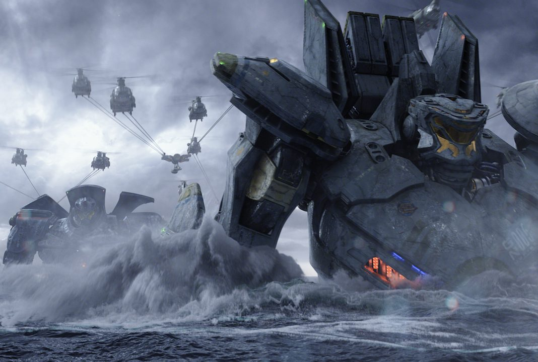 Two jaegers dropped into the ocean in Pacific Rim