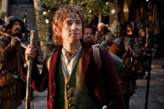 Bilbo and some of the dwarves from The Hobbit.