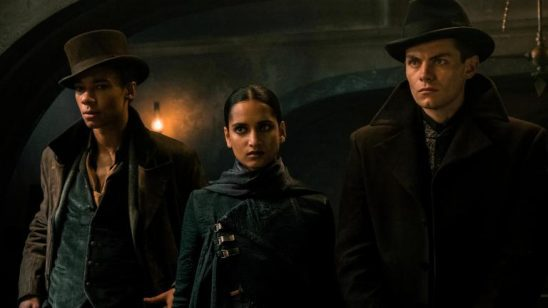 Jasper, Inej, and Kaz from Shadow and Bone