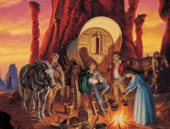 Cover art from The Shadow Rising.