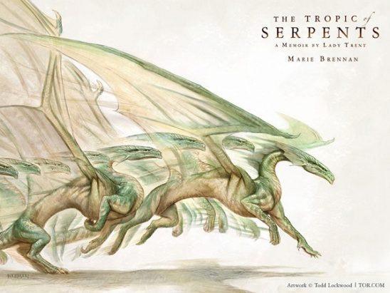 Scientific diagram of a dragon moving from Tropic of Serpents cover art.