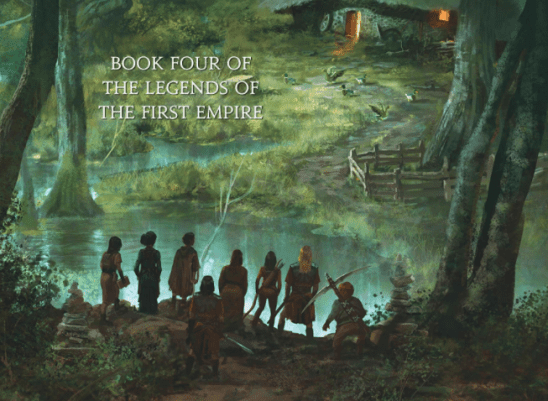 A group of adventurers in the forest from the cover of Age of Legends