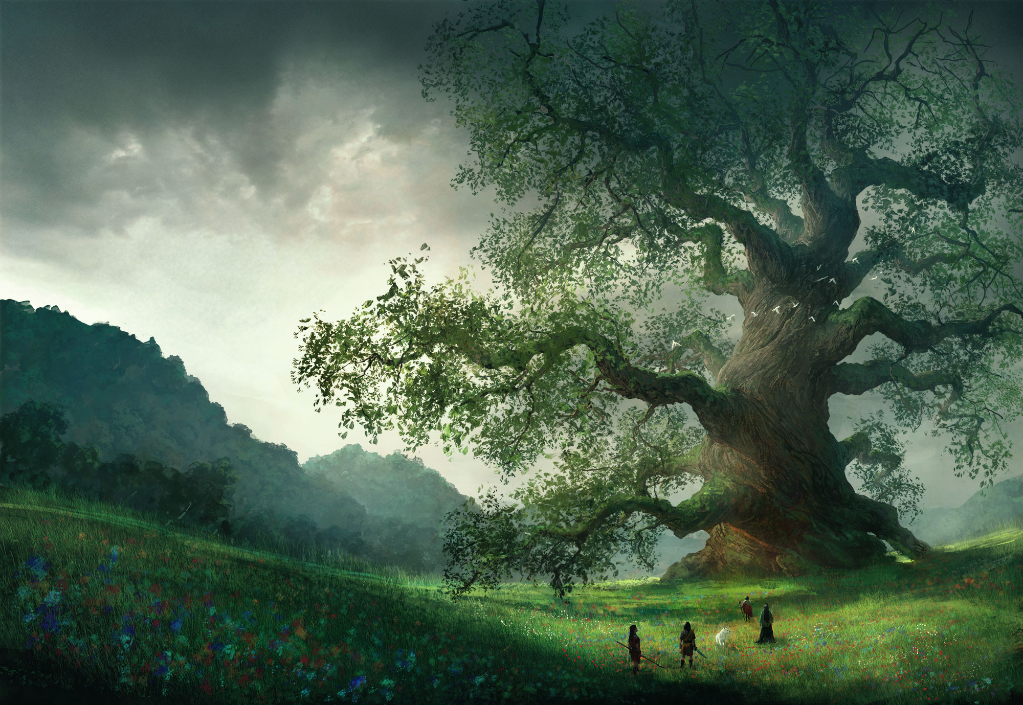 A large tree from the cover of Age of Myth