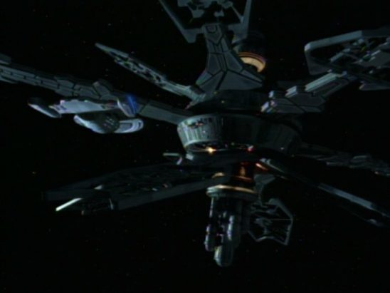 Voyager close to the Caretaker's Array.