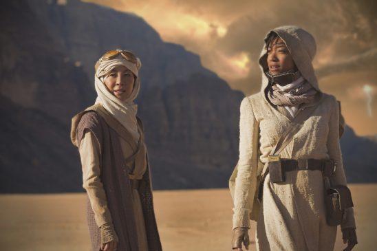 Georgiou and Burnham on an alien planet.