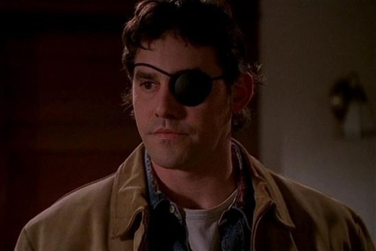 Xander with an eye patch from season seven.