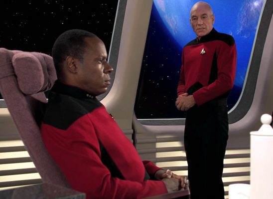 Sisko and Picard from Emissary