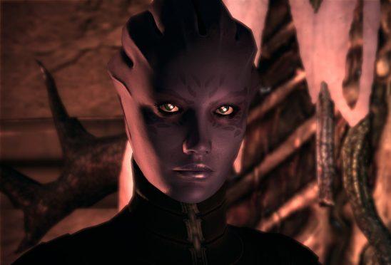 An angry looking Asari.