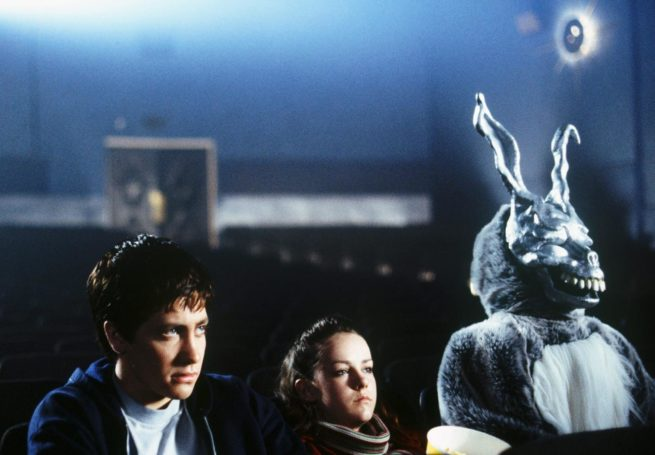 Characters in a movie theater from Donnie Darko.
