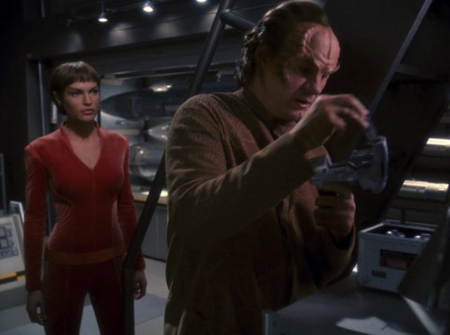 T'Pol and Phlox from the episode Doctor's Orders.