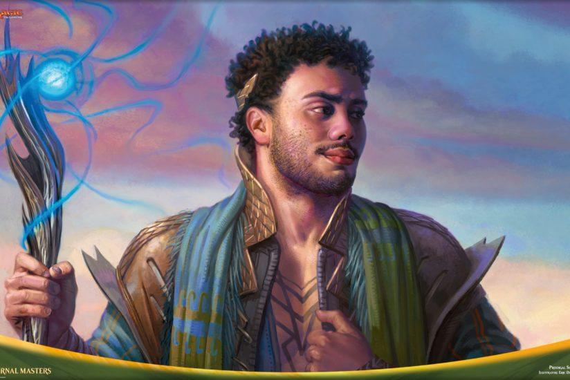 A smiling sorcerer.